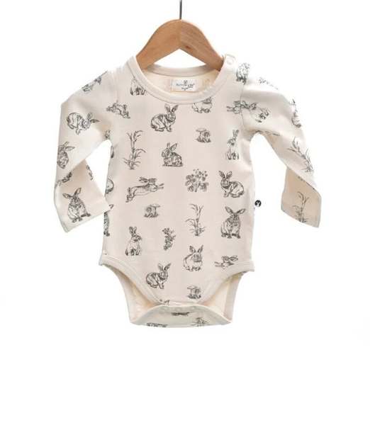 Essentials Long Sleeve Onesie - Almond Burrowers
