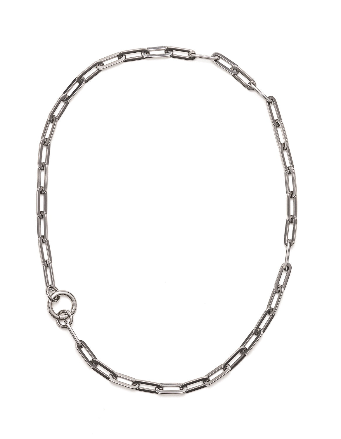 Fifth Symphony Big Chain Necklace - Silver
