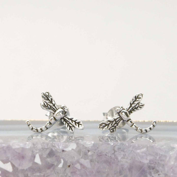 Sterling Dragonfly Studs