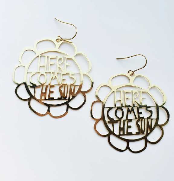 Here Comes The Sun Earrings - Gold