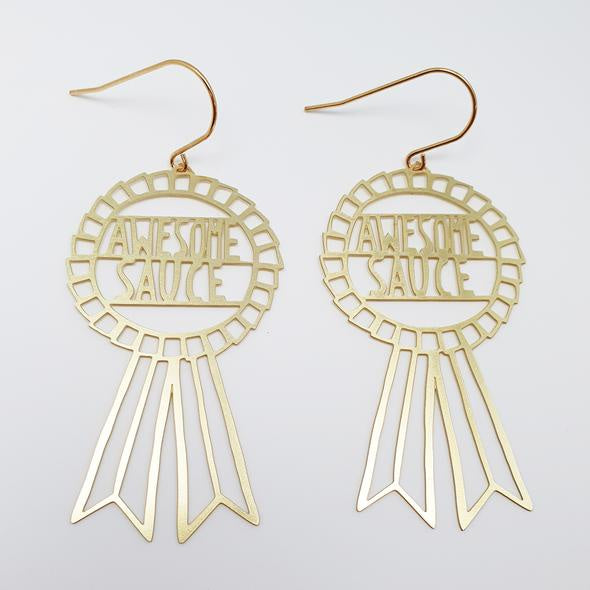 Awesome Sauce Earrings - Gold