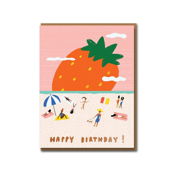 Strawberry Field Birthday Card