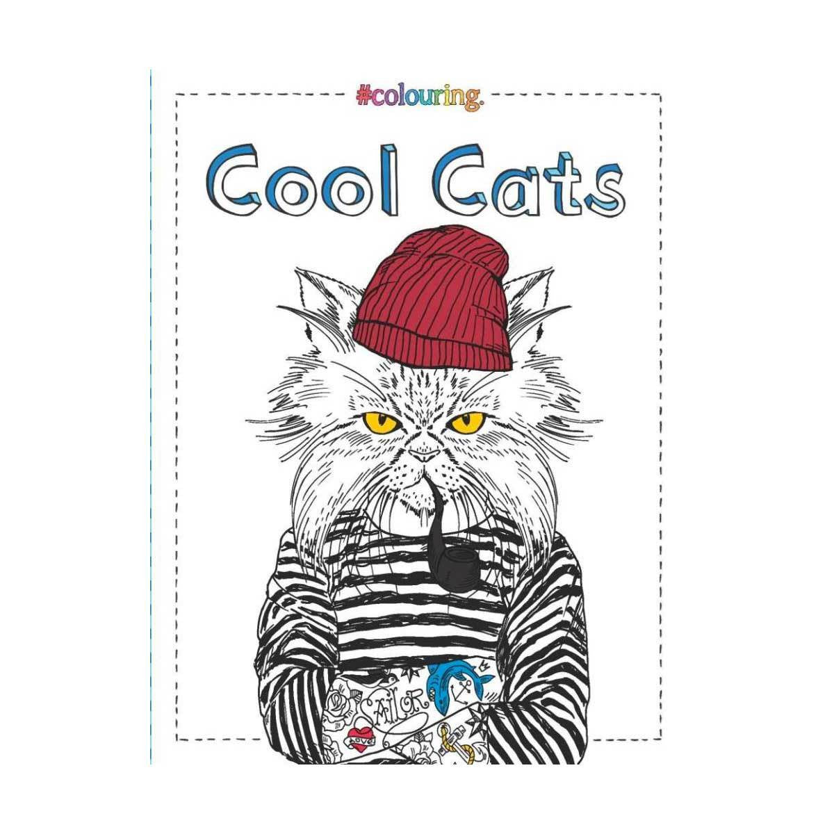 Cool Cats Colouring Book