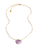 Curio Necklace - Gold & Amethyst