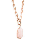 Fifth Symphony Amulet - Rose Gold & Rose Quartz