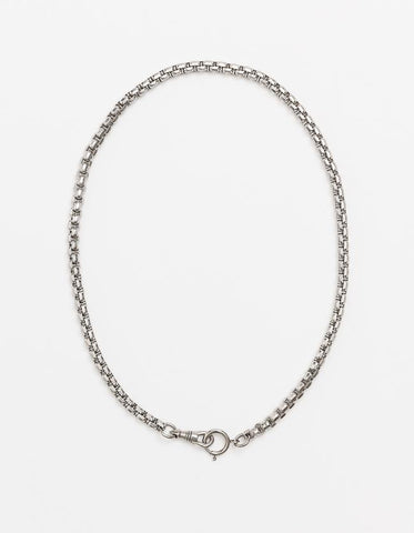 Long Double Catch Snake Chain - Silver