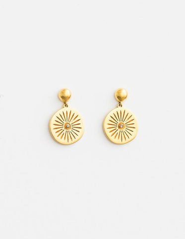Ashoka Earrings - Gold and Diamond