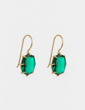 Lucent Drop Earrings - Veridian & Gold