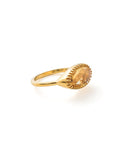 Curio Ring - Gold & Citrine