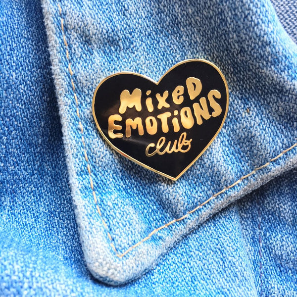 Mixed Emotions Club Pin - Black
