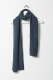 Garter Merino Scarf - Midnight Blue
