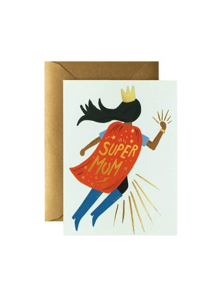 Super Mum Blue Mother's Day Card