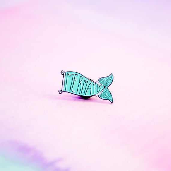 Mermaid Tail Flag Pin
