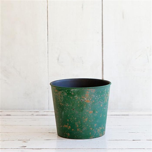 Weathered Look Planter 15.5cm - Green