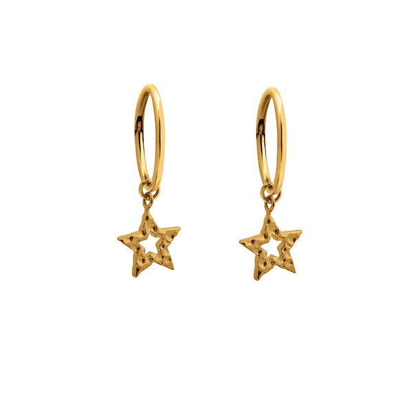 Charm Sleepers - Gold Hammered Star