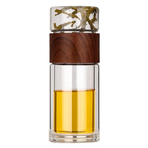 Tea Infuser and Flask - Woodgrain