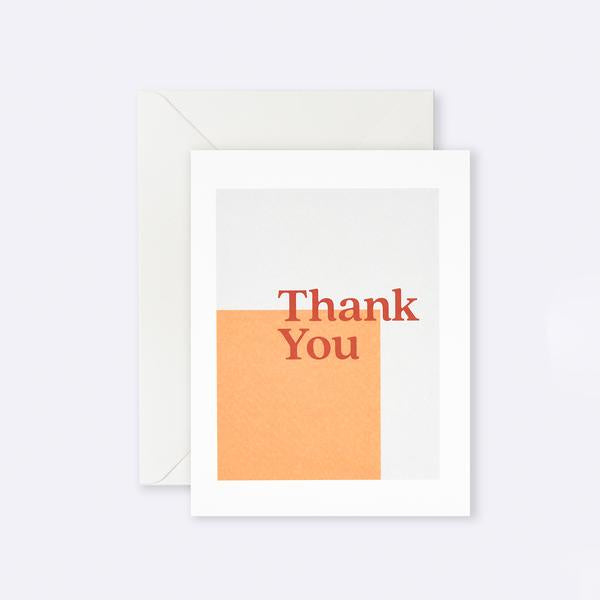 Thank You Card - Orange Square