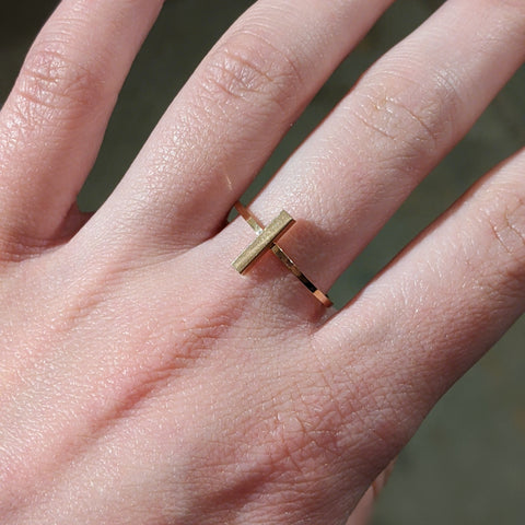 Tall Rectangle Ring - Rose Gold