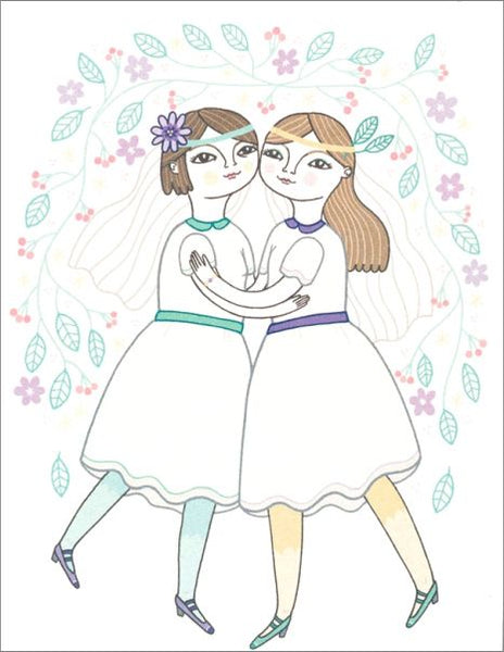 Girls Wedding Card