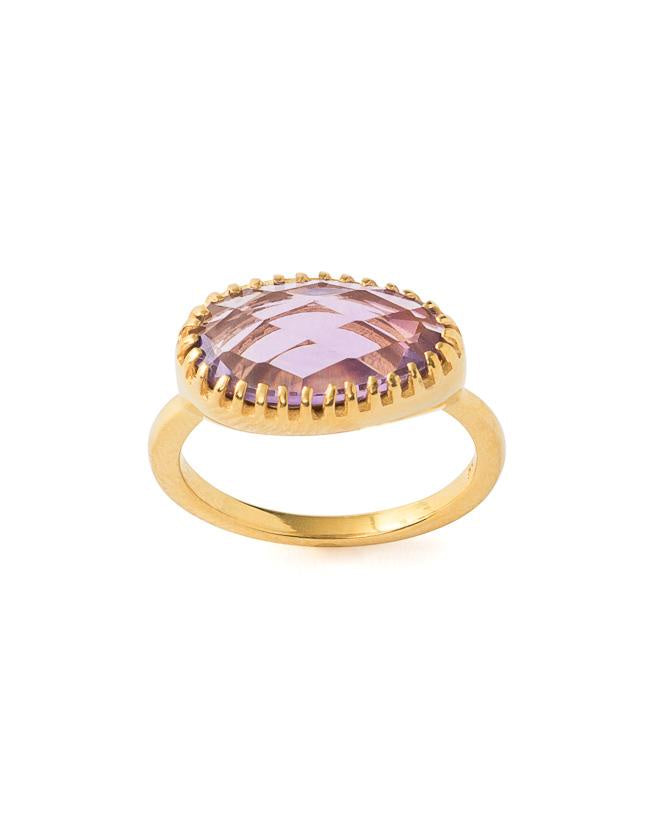 Curio Ring - Gold & Amethyst