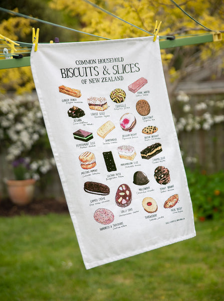 Biscuits and Slices Tea Towel