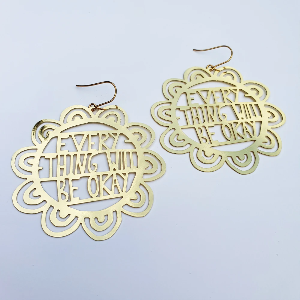 Everything Will be OK Earrings - Gold