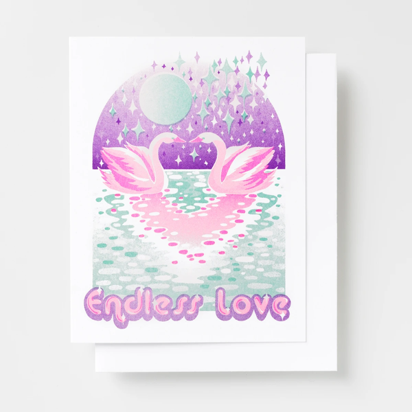 Endless Love Swans Card