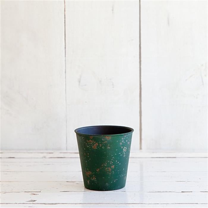 Weathered Look Planter 11cm - Green