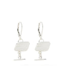 Cufflink Silver Earrings