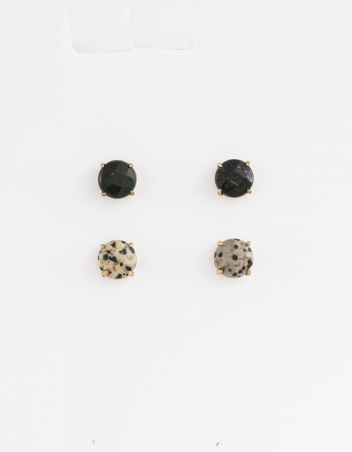 Set of 2 Studs - Black/Speckle
