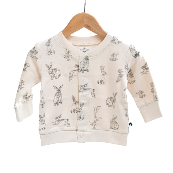 Essentials Fleece Cardigan - Almond Burrowers