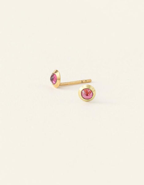 Enfants Earrings - Gold and Tourmaline