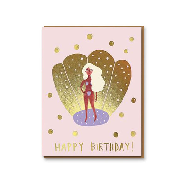 Golden Aphrodite Birthday Card