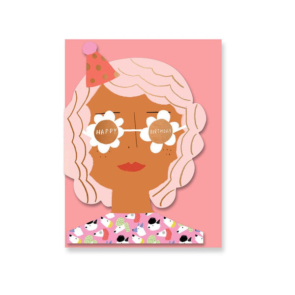 Party Girl Die-Cut Birthday Card