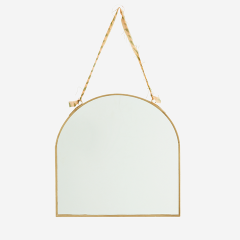 Hanging Brass Mirror - Arch