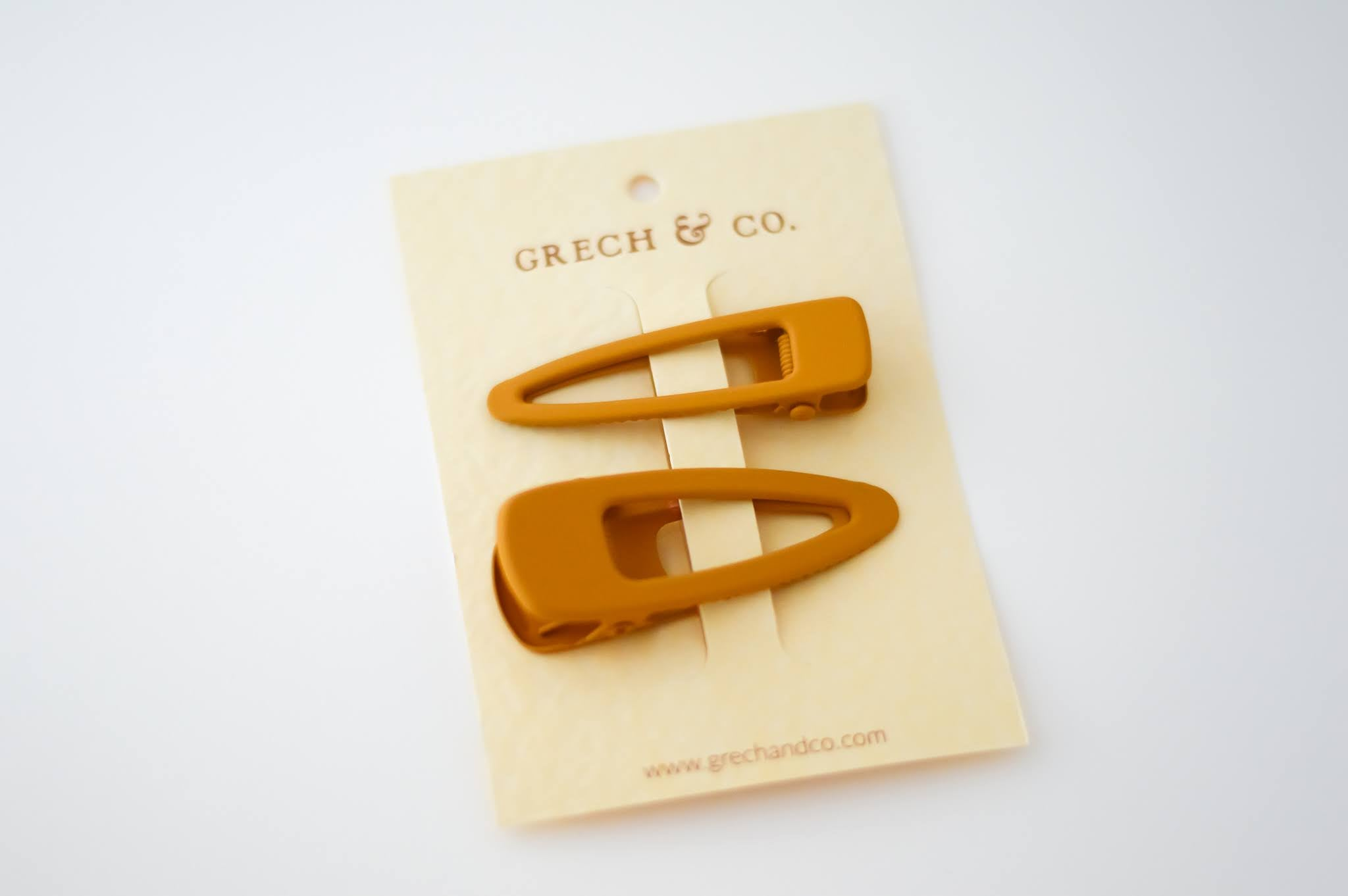 Matte Hair Clips Set of 2 - Golden