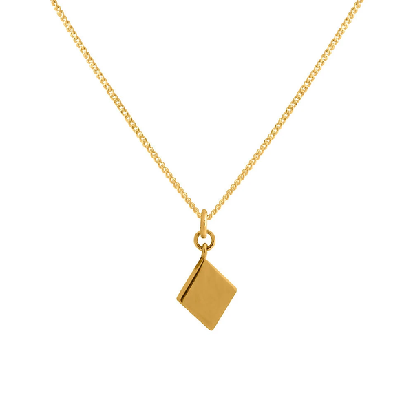 Charm Pendant Necklace - Gold Diamond