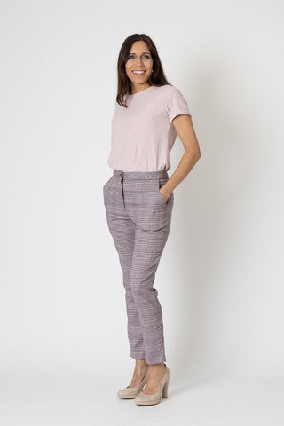 Mia Pants - Pink Check