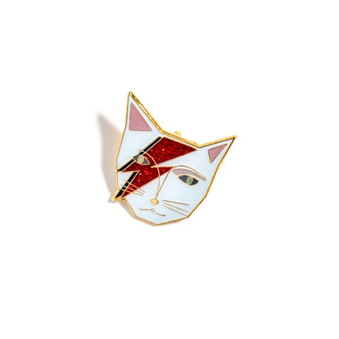 Kitty Stardust Enamel Pin