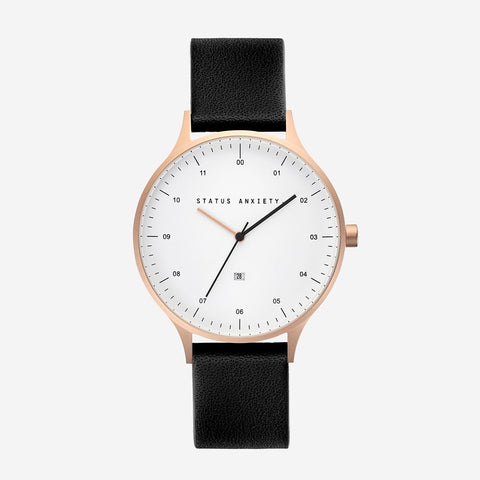 Inertia Watch - Brushed Copper, White & Black