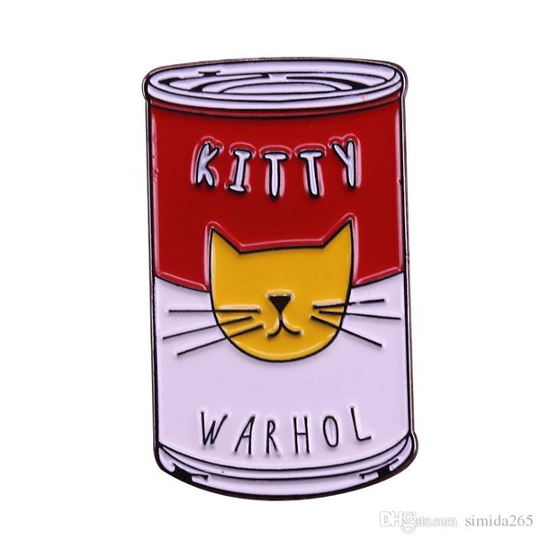 Kitty Warhol Enamel Pin