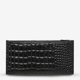 In The Beginning Wallet - Black Croc Emboss