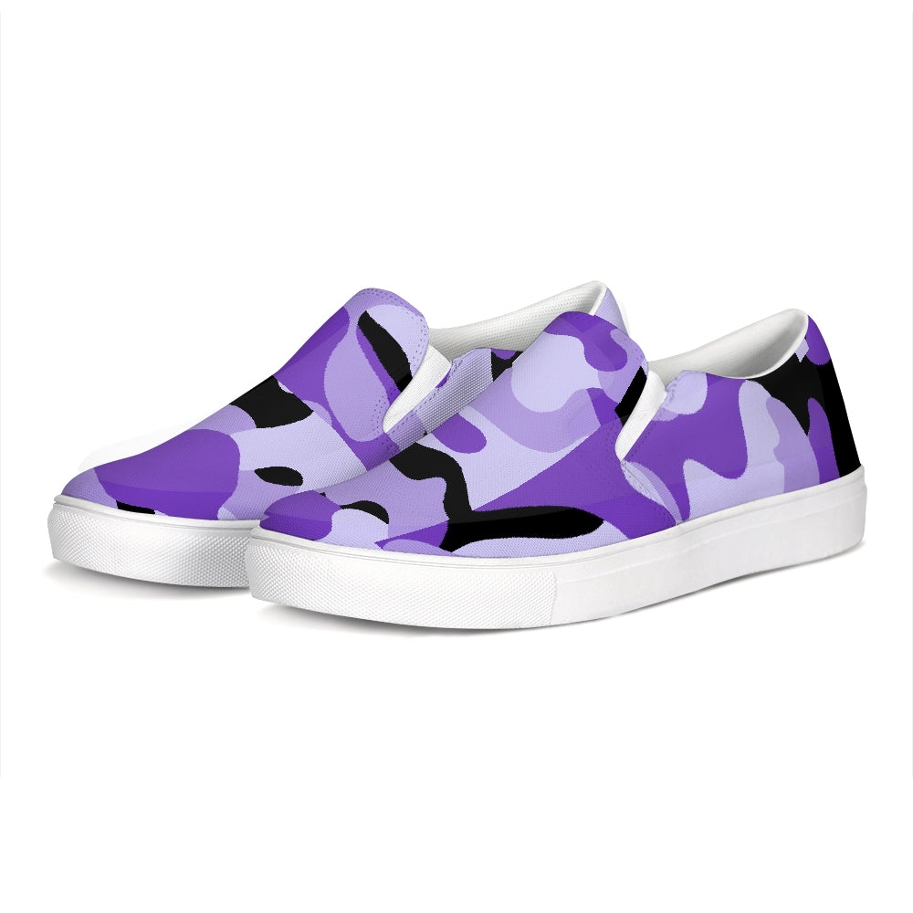 TℲ Purp Black Kamo Mens Slip-On Shoes