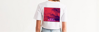 TℲ Mauve Trvp Sky Women's Crop Top Tee