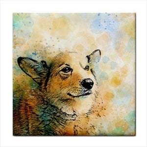 Dog 143 Corgi Ceramic Tile