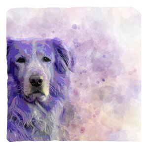 Dog 140 Golden Retriever Throw Pillow