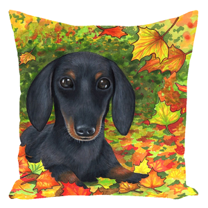 Dog 142 Dachshund Throw Pillow