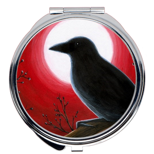 Bird 62 Crow Compact Mirror