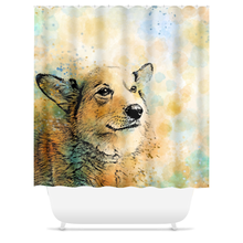Load image into Gallery viewer, Dog 143 Shower Curtains