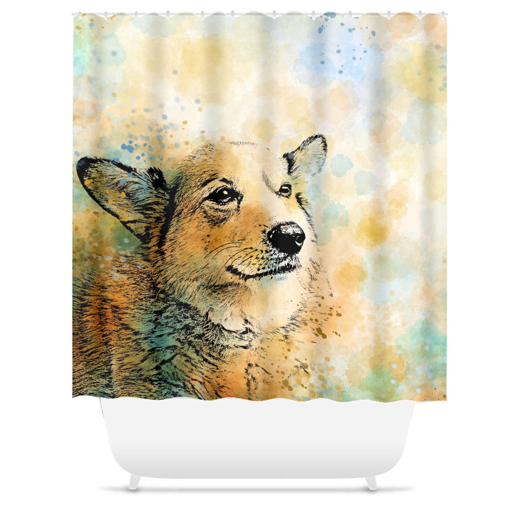 Dog 143 Shower Curtains
